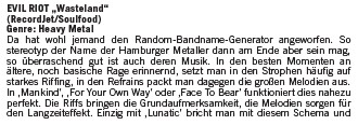 Review im Legacy Magazin